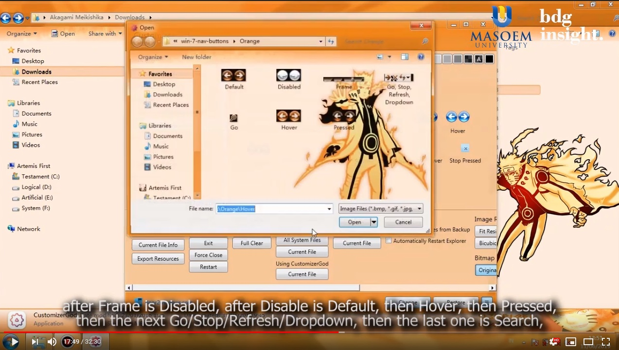 Tutorial Menghias Windows Custom Naruto